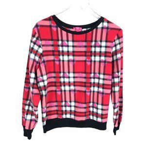 Betsey Johnson Womens Fleece Pajama Shirt Size M